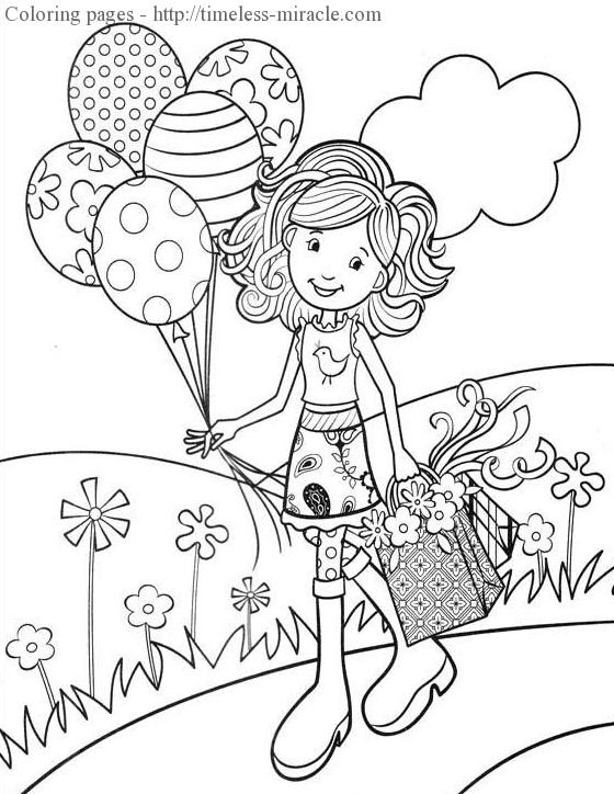 Best ideas about Coloring Sheets For Girls The Birthday Wenepoo . Save or Pin Fun coloring pages for girls timeless miracle Now.