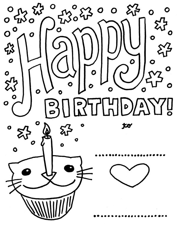Best ideas about Coloring Sheets For Girls The Birthday Wenepoo . Save or Pin Happy Birthday Coloring Pages Download Now.