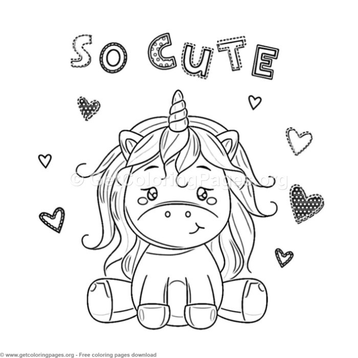 Best ideas about Coloring Sheets For Girls The Birthday Wenepoo . Save or Pin 61 Cute Cartoon Unicorn Coloring Pages – GetColoringPages Now.