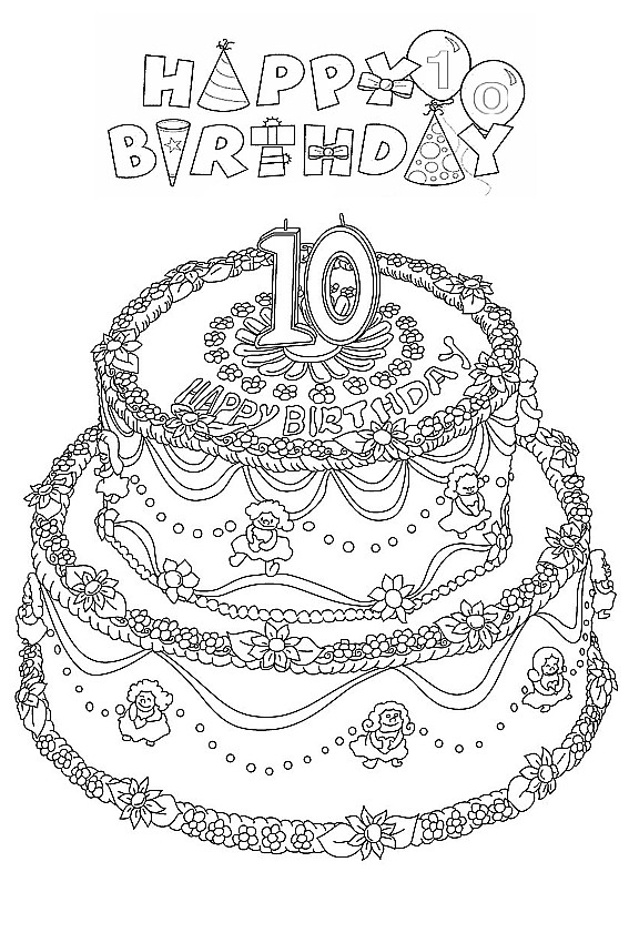 Best ideas about Coloring Sheets For Girls The Birthday Wenepoo . Save or Pin Happy Birthday coloring pages to color in on your birthday Now.