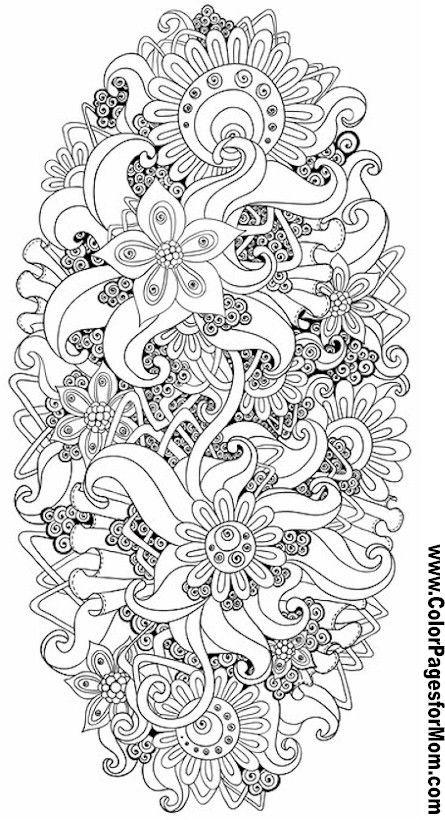 Coloring Sheets For Girls With The Words Dream  Las mejores mandalas en blanco y negro para colorear