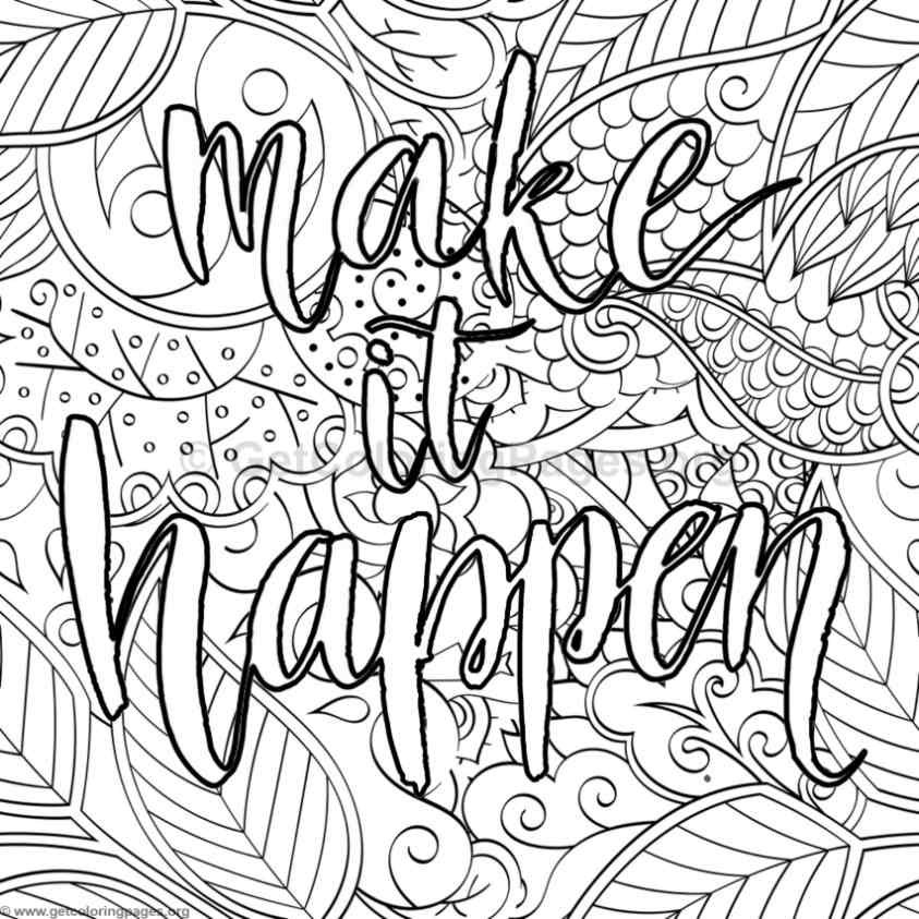 Coloring Sheets For Girls With The Words Dream  Inspirational Word Coloring Pages