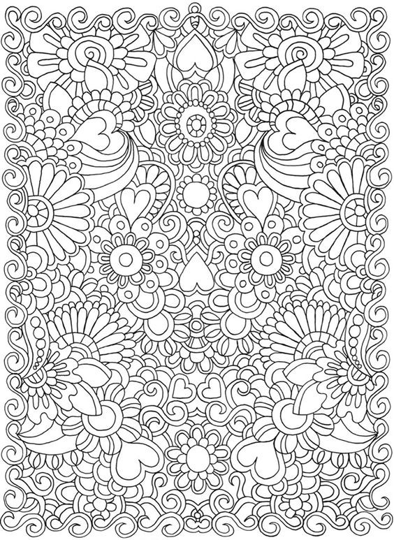Coloring Sheets For Girls With The Words Dream  Картинки антистресс для раскрашивания