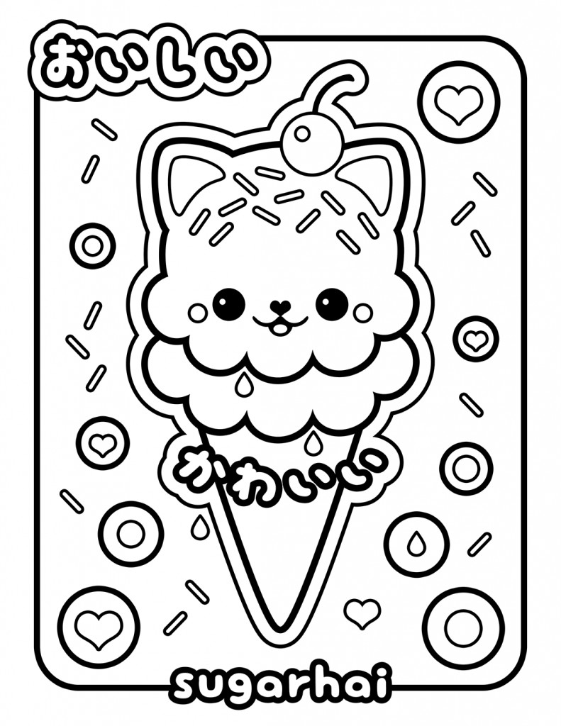 Coloring Sheets For Kids And Girls Printable Sundae  Free Printable Ice Cream Coloring Pages For Kids