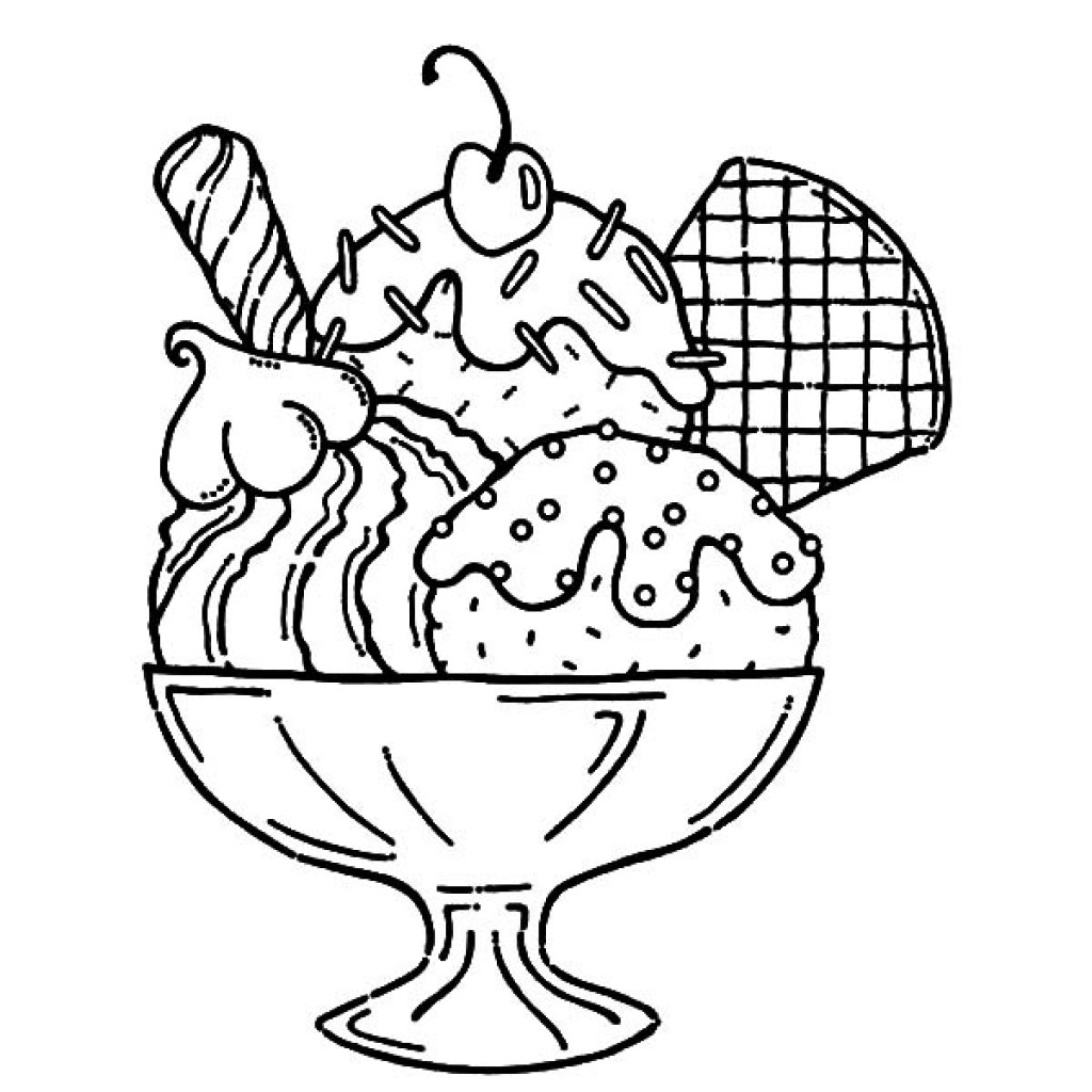 Coloring Sheets For Kids And Girls Printable Sundae  Ice Cream Coloring Pages coloringsuite