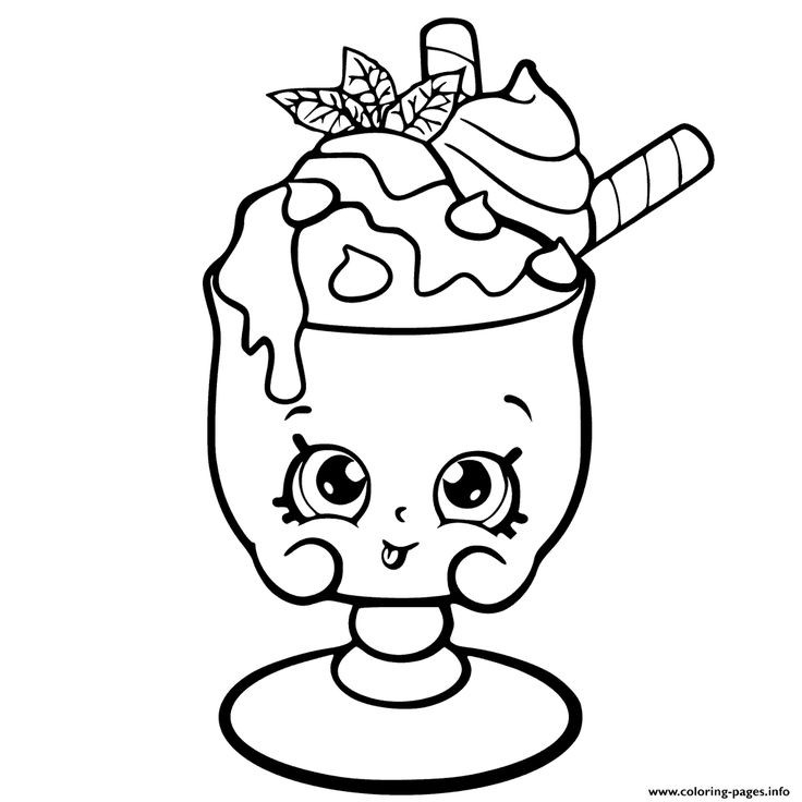 Coloring Sheets For Kids And Girls Printable Sundae  Cute Coloring Pages For Girls 7 To 8 Shopkins Videos The