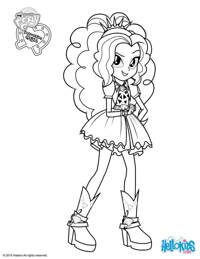 Coloring Sheets For Kids Equestria Girls  My Little Pony Equestria Girls Coloring Pages