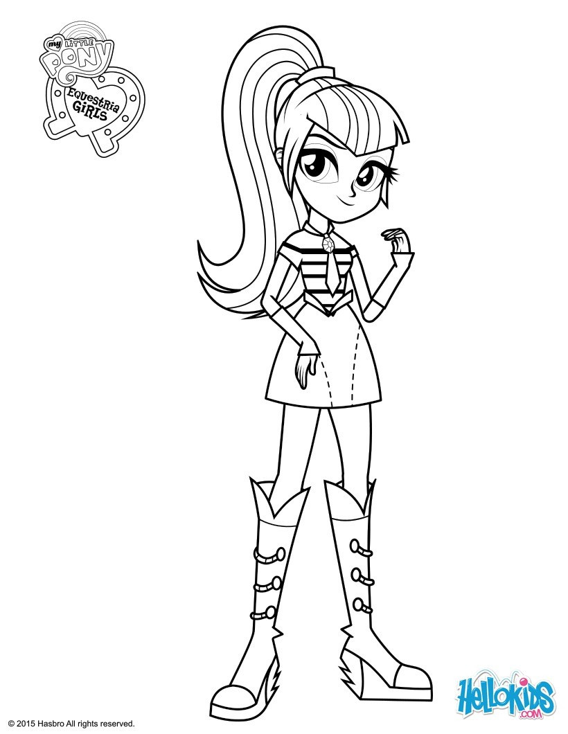 Coloring Sheets For Kids Equestria Girls  coloring pages of my little pony equestria girls free