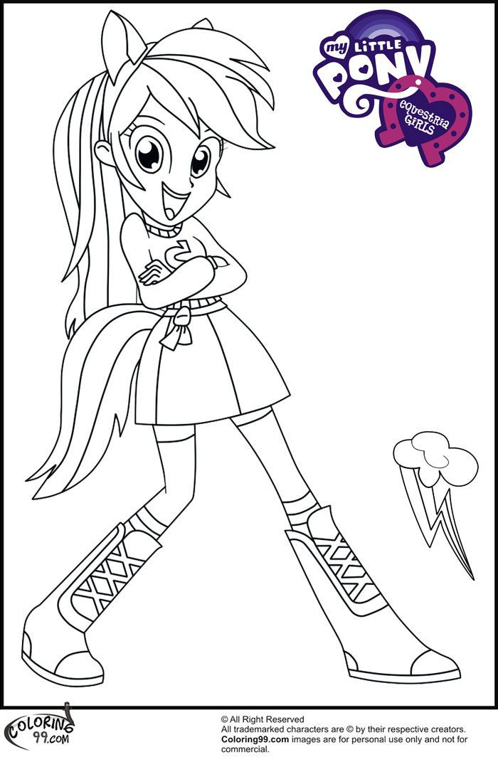 Coloring Sheets For Kids Equestria Girls  MLP Equestria Girls Coloring Pages