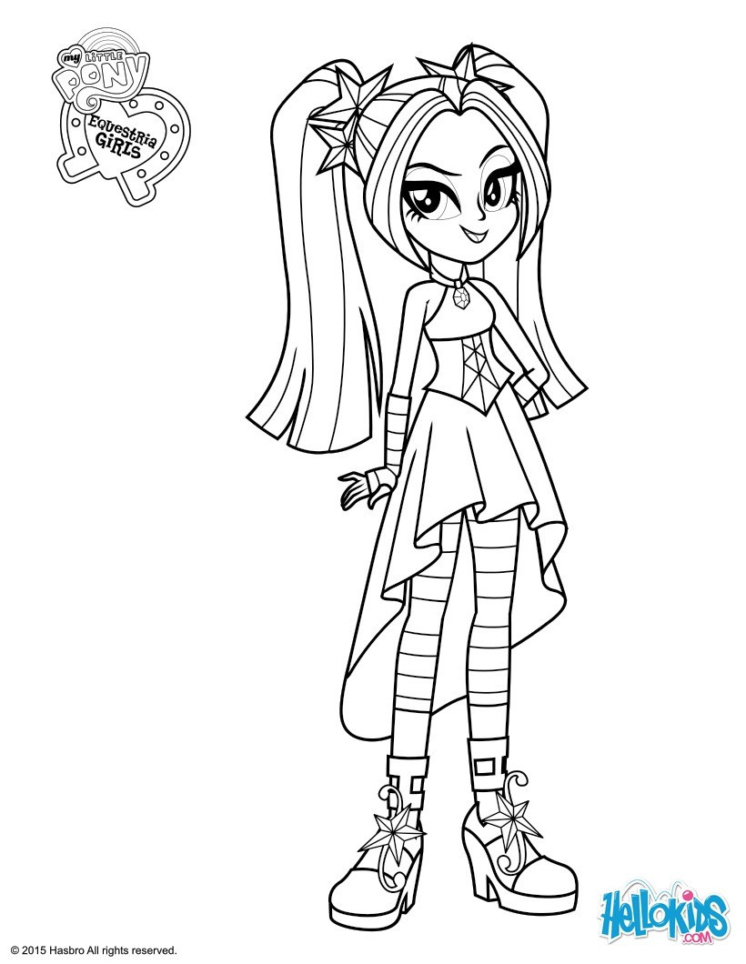 Coloring Sheets For Kids Equestria Girls  my little pony equestria girls rainbow rocks coloring