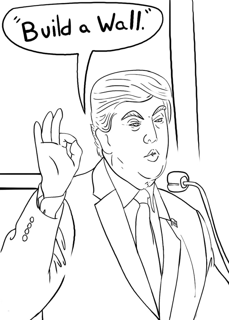 Coloring Sheets For Kids On Worrying  Donald Trump Coloring Pages Best Coloring Pages For Kids