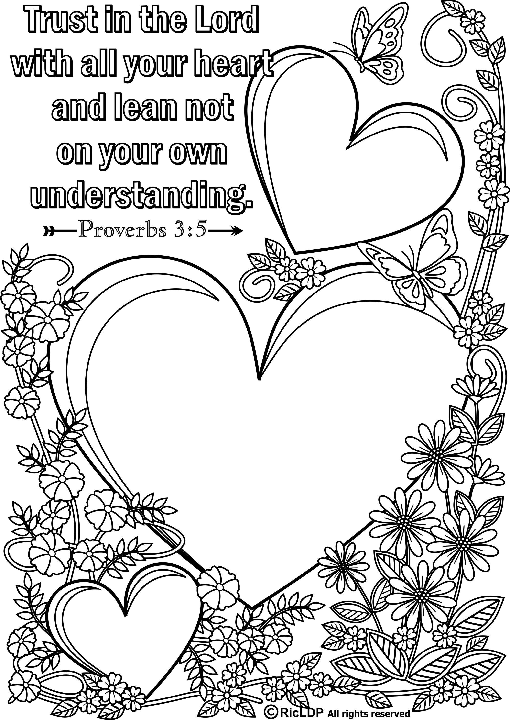 Coloring Sheets For Kids On Worrying  15 Printable Bible Verse Coloring Pages