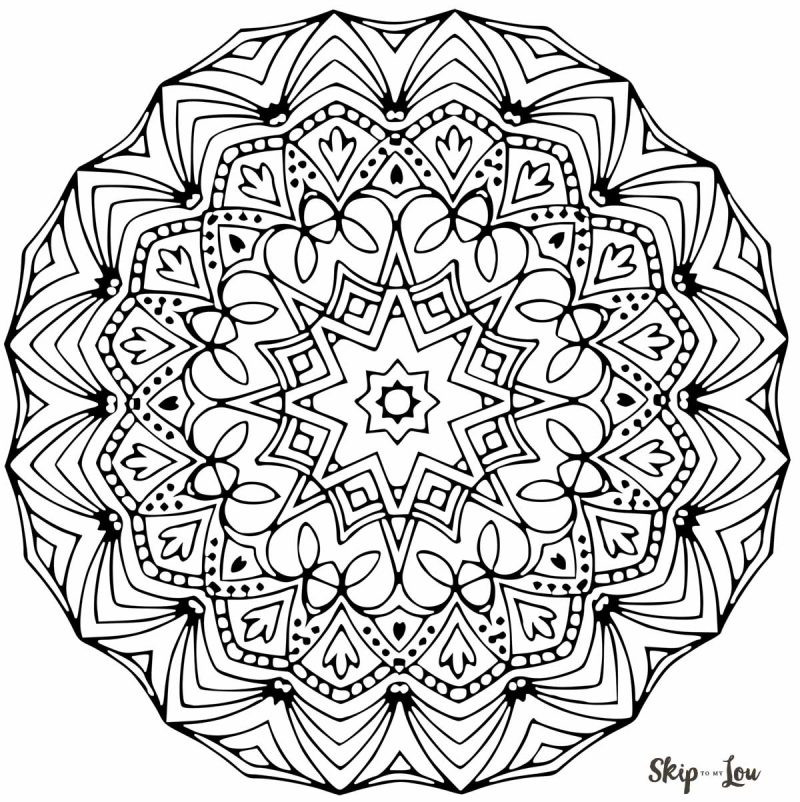 Coloring Sheets For Kids On Worrying  Color your stress away with Mandala coloring pages