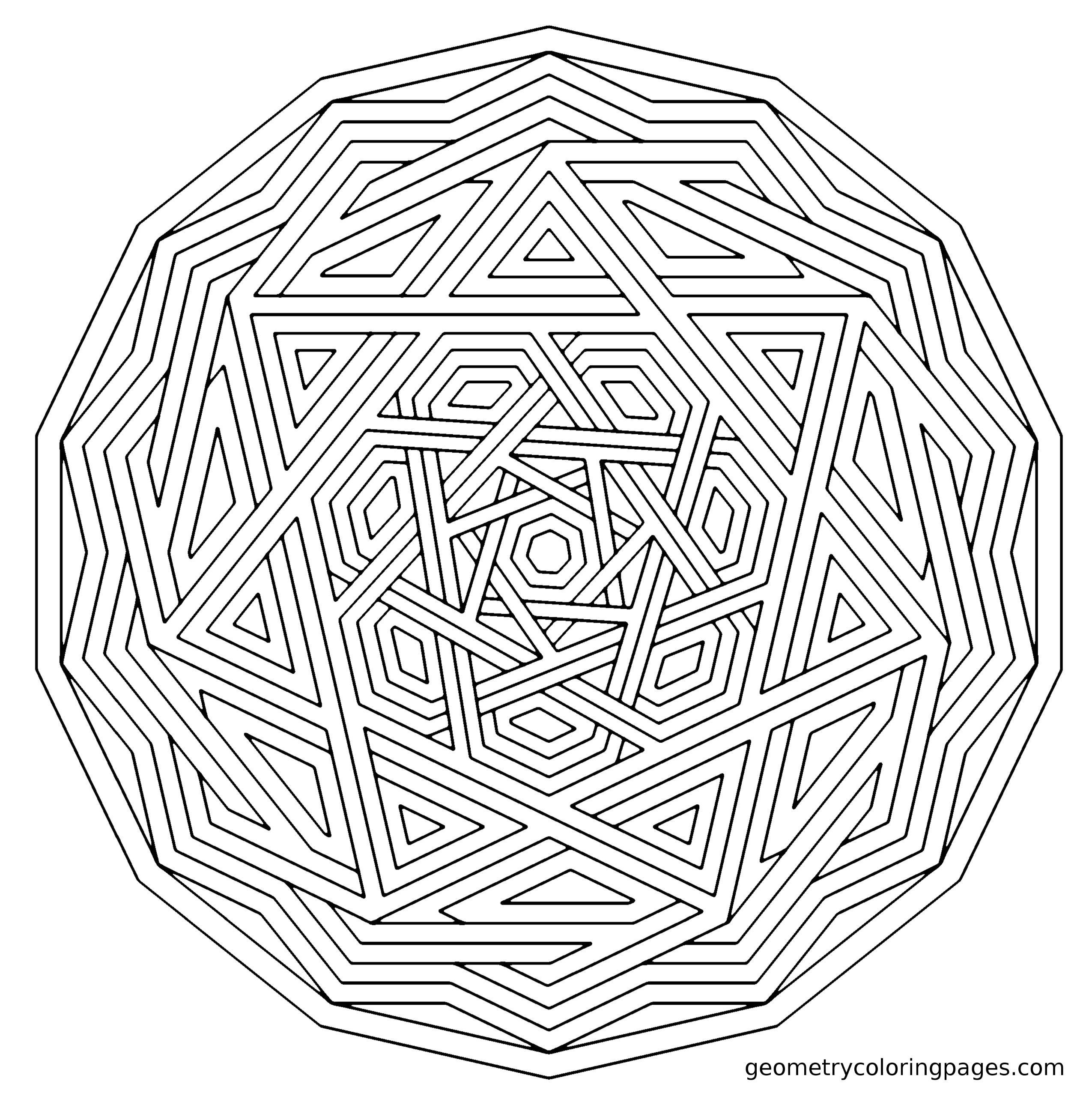 Coloring Sheets For Kids On Worrying  plex Geometric Coloring Pages Coloring Home