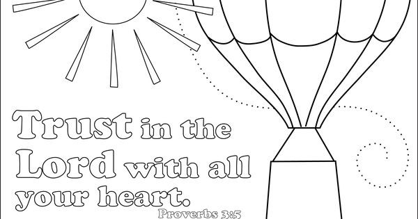 Coloring Sheets For Kids On Worrying  Do Not Worry Trust God coloring page