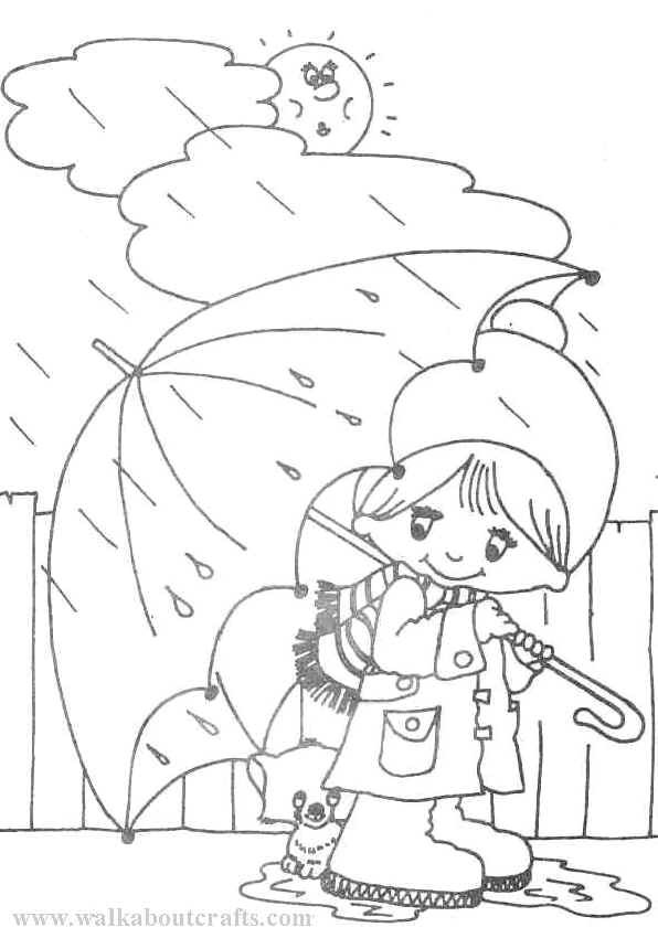 Coloring Sheets For Kids Rainy Days  Rainy Day Coloring Pages Free Coloring Home