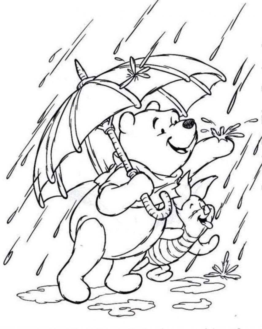 Coloring Sheets For Kids Rainy Days  Coloring Pages Rainy Day Coloring Home