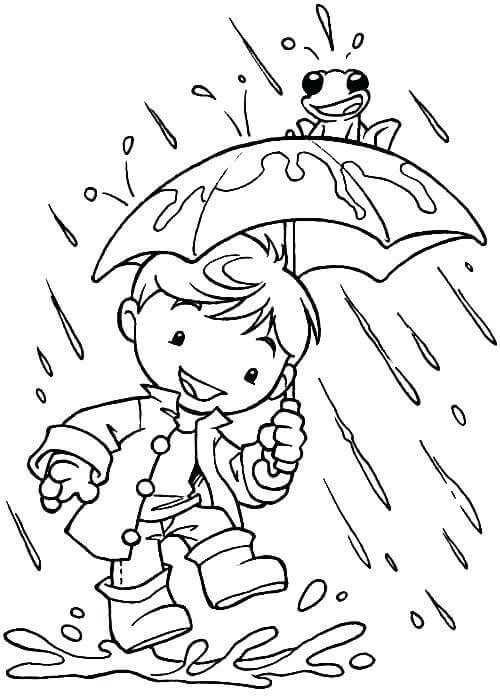 Coloring Sheets For Kids Rainy Days  35 Free Printable Rainy Day Coloring Pages