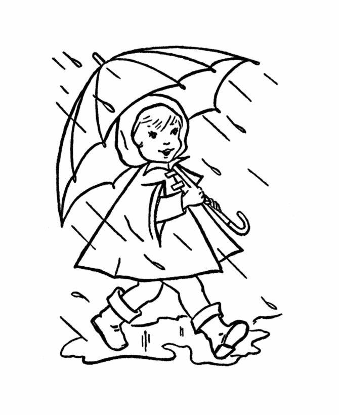 Coloring Sheets For Kids Rainy Days  Rain Drawing at GetDrawings