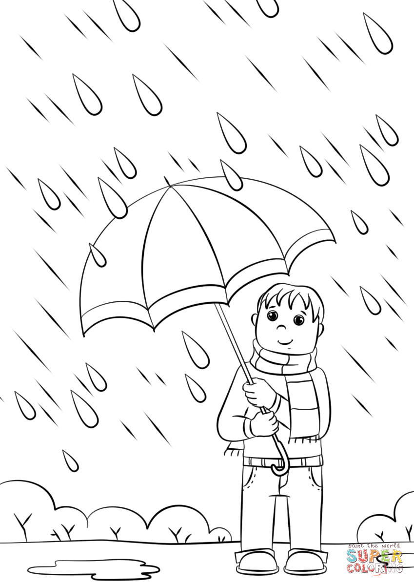 Coloring Sheets For Kids Rainy Days  Rainy Day coloring page