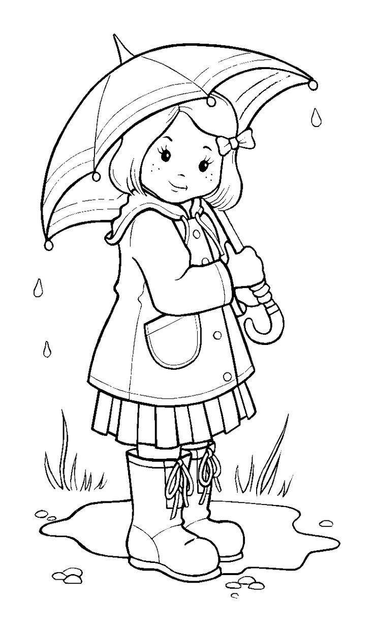 Coloring Sheets For Kids Rainy Days  Rainy Day Coloring Pages coloringsuite