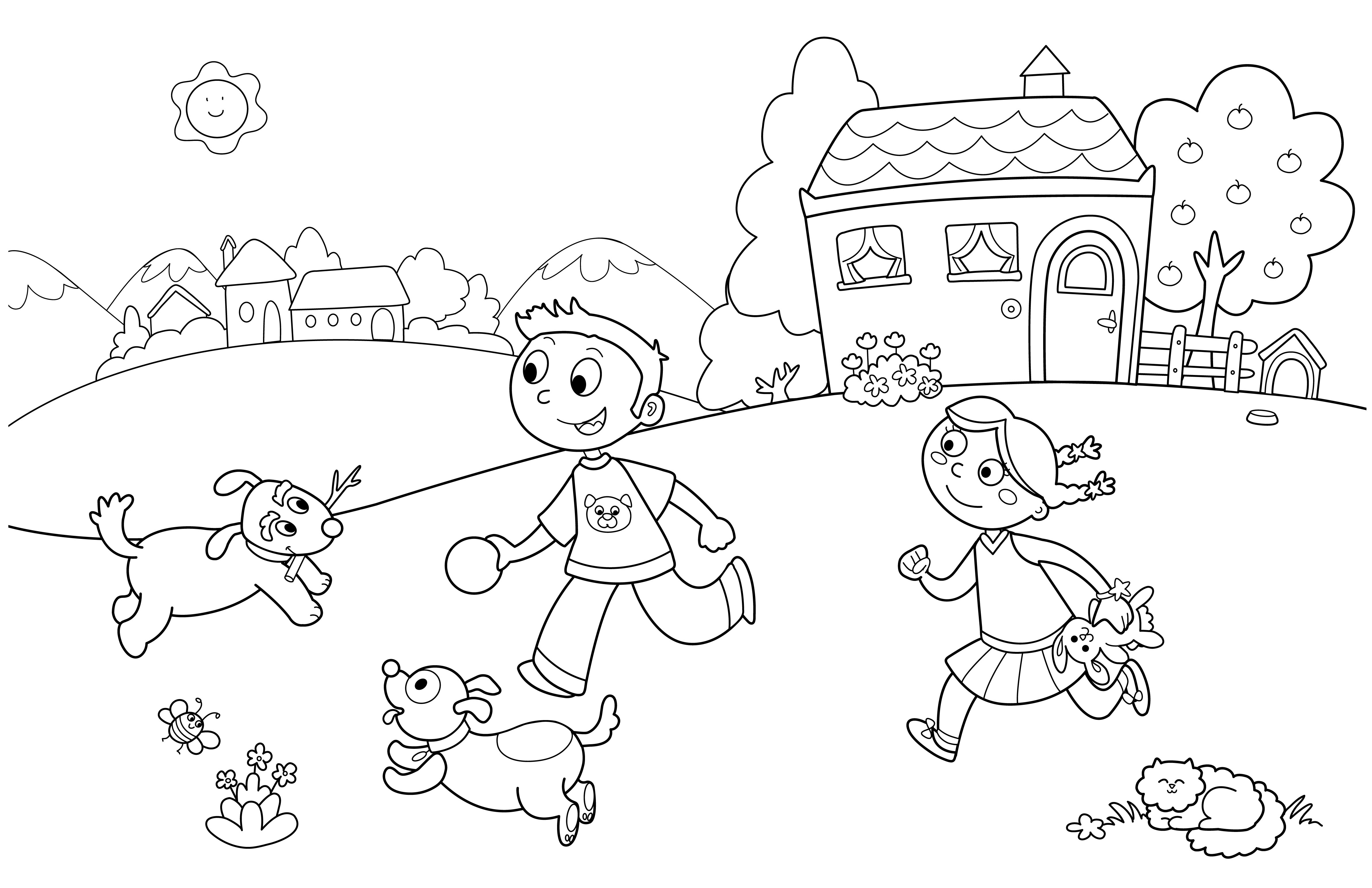 Coloring Sheets For Kids School Time  Preschool Summer Coloring Pages Bestofcoloring