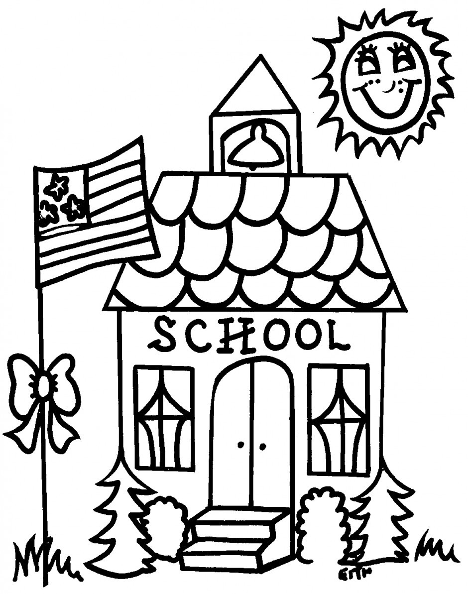Coloring Sheets For Kids School Time  School Supplies Coloring Pages