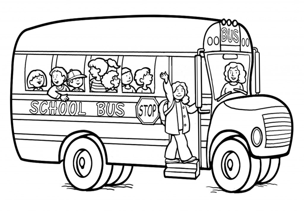 Coloring Sheets For Kids School Time  Free Printable School Bus Coloring Pages For Kids