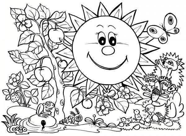 Coloring Sheets For Kids School Time  طرح های جذاب برای رنگ آمیزی کودکان