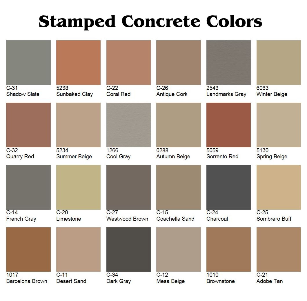 Best ideas about Concrete Paint Colors . Save or Pin Stamped Color Restoration Now.