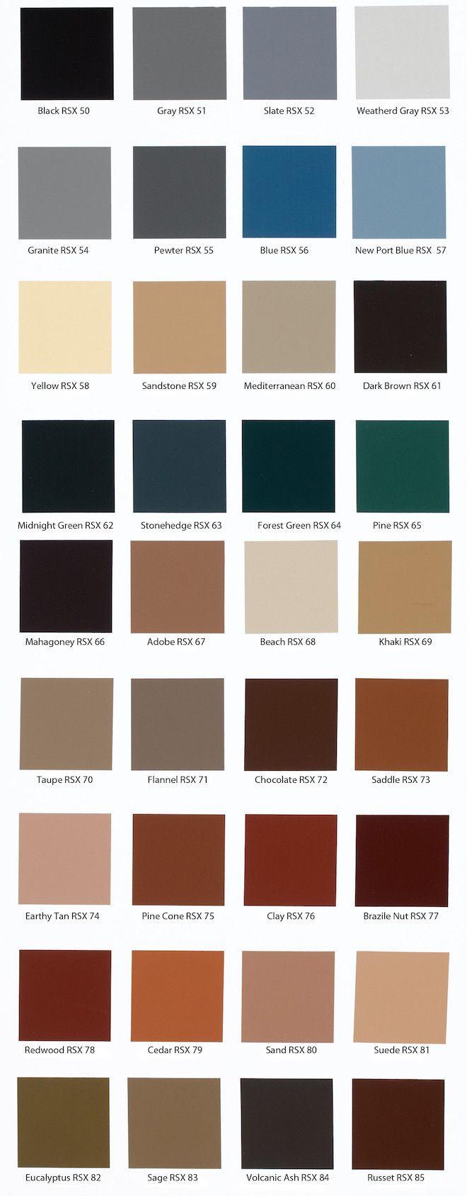 Best ideas about Concrete Paint Colors . Save or Pin Behr Solid Concrete Stain Color Chart … Now.