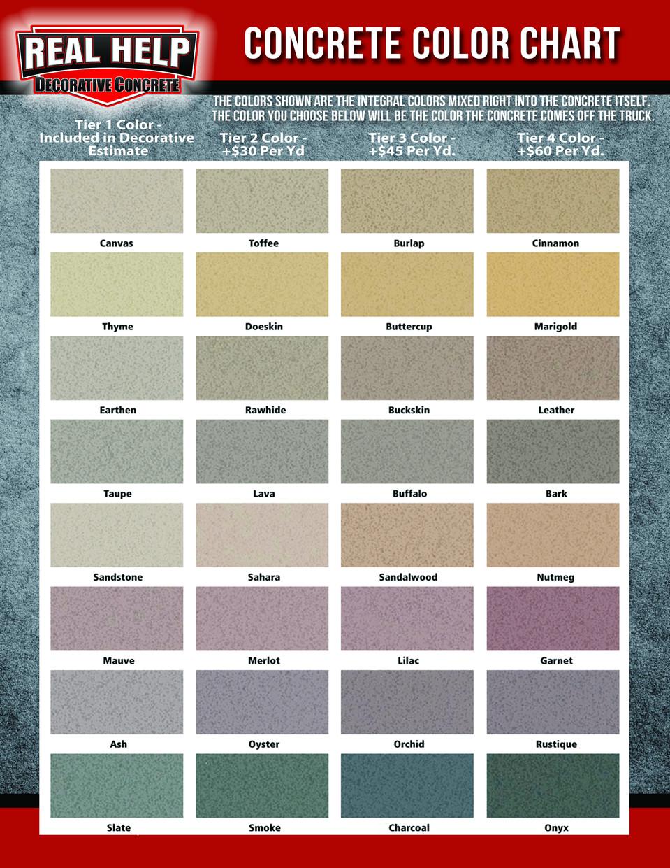 Best ideas about Concrete Paint Colors . Save or Pin Behr Deck Over Color Chart Now.