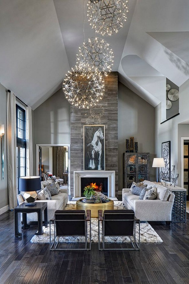 Best ideas about Contemporary Family Room . Save or Pin Dark Hardwood Floors Ideas for Rooms in the House Now.