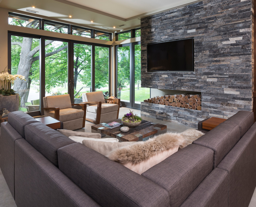Best ideas about Contemporary Family Room . Save or Pin Modern Organic Home In Lake Calhoun Minneapolis Now.