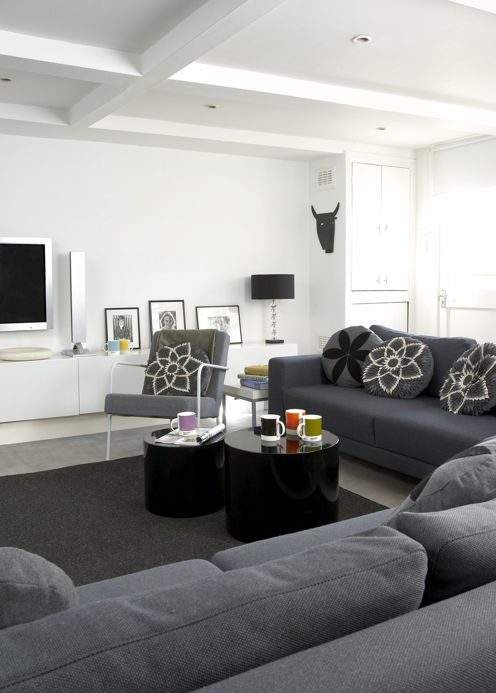 Best ideas about Contemporary Family Room . Save or Pin Gray Contemporary Modern Family Room Living Room Design Now.
