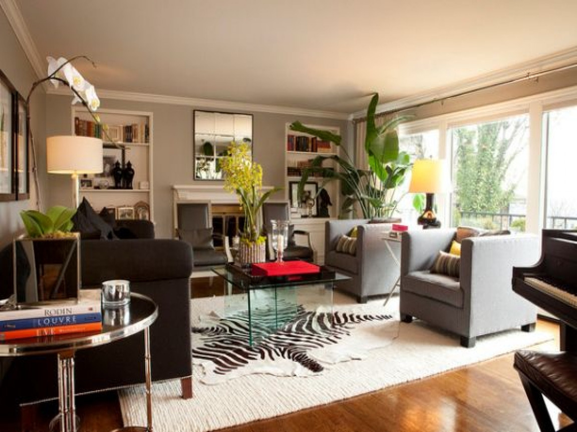 Best ideas about Contemporary Family Room . Save or Pin Living room furniture contemporary zebra print rug living Now.