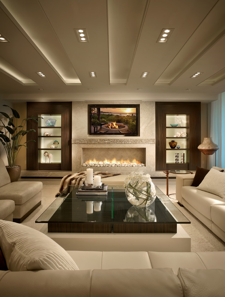 Best ideas about Contemporary Family Room . Save or Pin Living Room Table Designs Ideas Now.