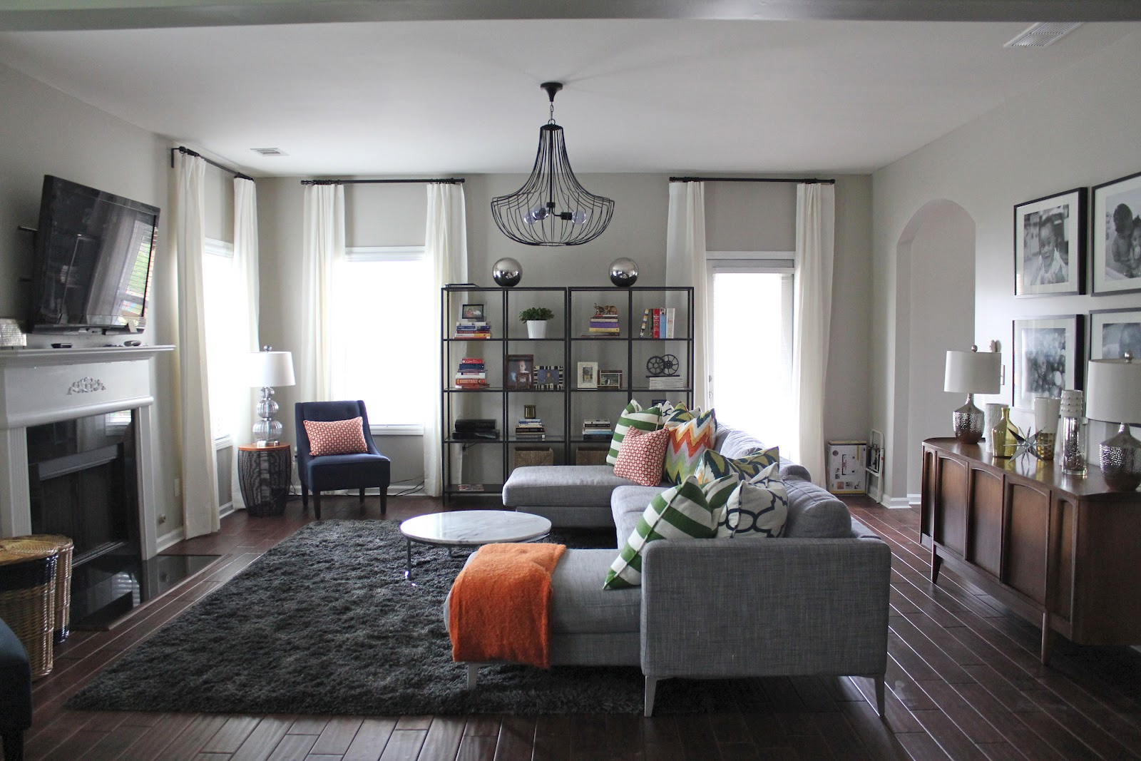 Best ideas about Contemporary Family Room . Save or Pin BEFORE & AFTER MODERN FAMILY ROOM MY DESIGN TIPS Now.