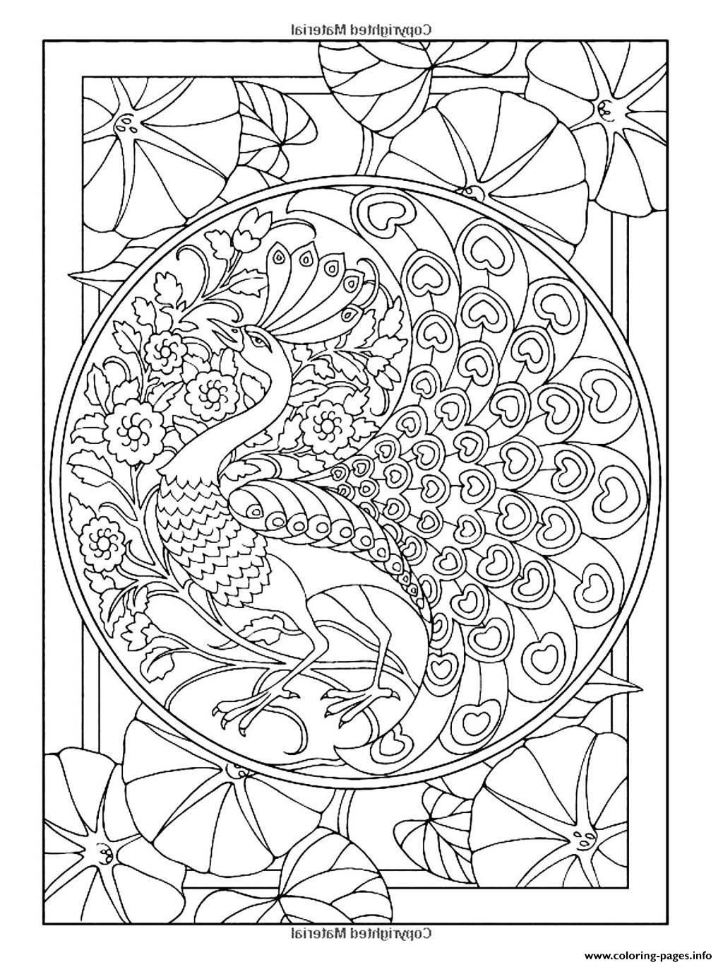 Cool Adult Coloring Pages  Cool Coloring Pages For Adults Peacock Coloring Home