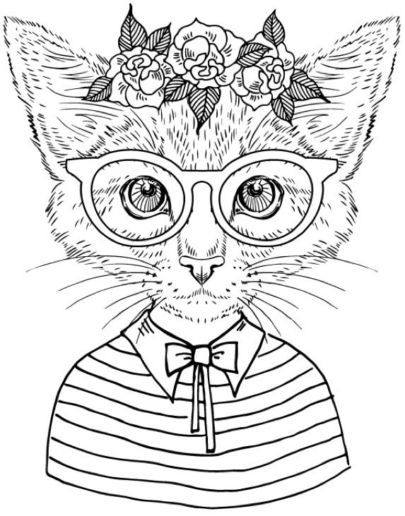 Cool Adult Coloring Pages  Best Coloring Books for Cat Lovers Cleverpedia