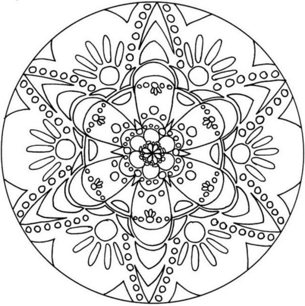 Cool Design Coloring Pages For Boys  Mandala Coloring Pages For Teen Boys The Color Jinni