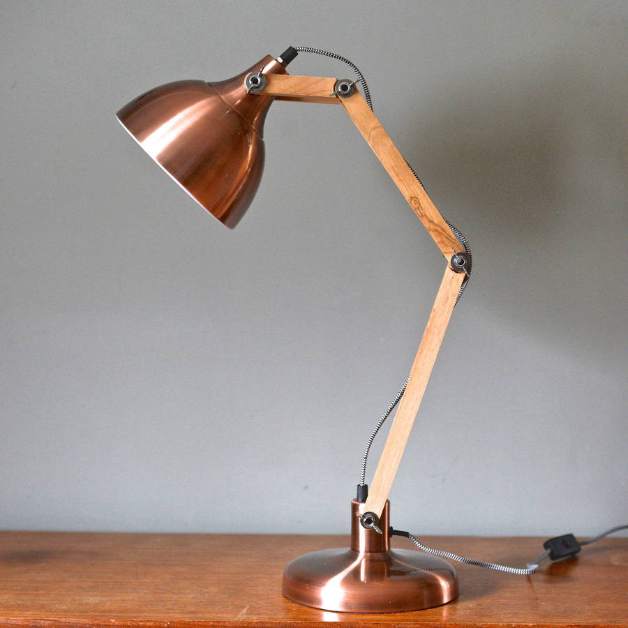 Best ideas about Copper Desk Lamp . Save or Pin copper and wood angled table lamp by the forest & co Now.