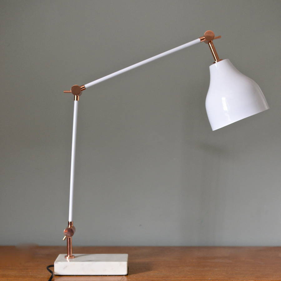 Best ideas about Copper Desk Lamp . Save or Pin stone and copper angled desk lamp by the forest & co Now.