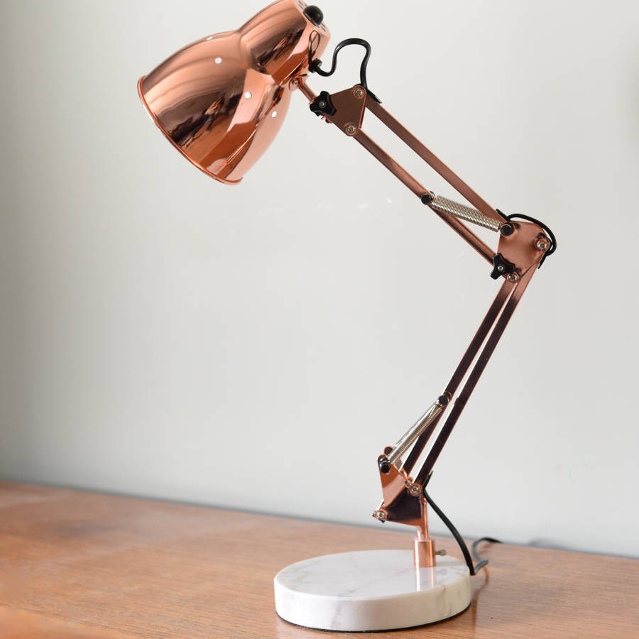 Best ideas about Copper Desk Lamp . Save or Pin copper angled table lamp by the forest & co Now.