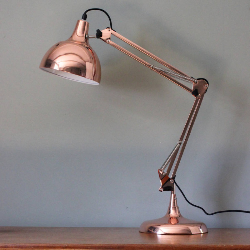 Best ideas about Copper Desk Lamp . Save or Pin Vintage Copper Traditional Desk Lamp Forever Furnishings Now.