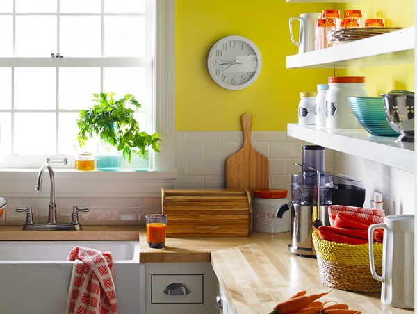 Best ideas about Coral Kitchen Decor . Save or Pin Colorful and Fun Kitchen Decor Satori Design for Living Now.