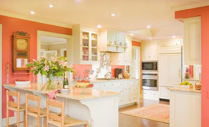 Best ideas about Coral Kitchen Decor . Save or Pin Coral and Cream Colored Kitchen Room Decor and Design Now.