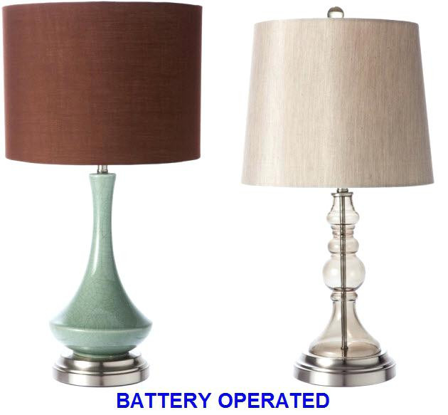 Best ideas about Cordless Desk Lamp . Save or Pin Striped Lamp Shades Battery Operated Cordless Table Now.