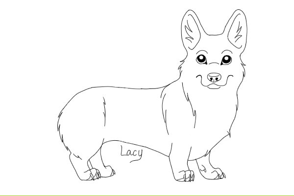 Corgi Coloring Pages  Corgi Lineart by Xx Lacy xX on DeviantArt