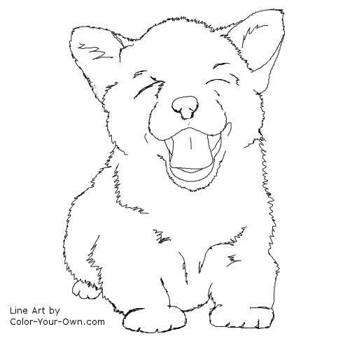 Corgi Coloring Pages  Corgi Puppy Free Coloring Pages